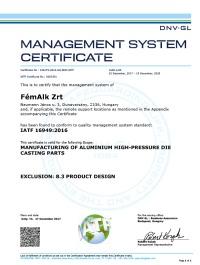 FémAlk Zrt Certificate DV