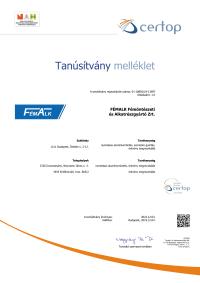 FémAlk Zrt  ISO 50001-2018 melléklet