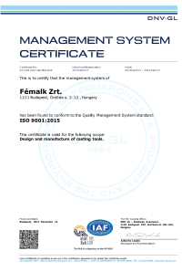 ISO 9001 2015 DNV GL Certificate english