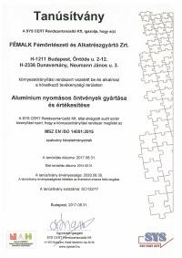 MSZ EN ISO 14001:2015